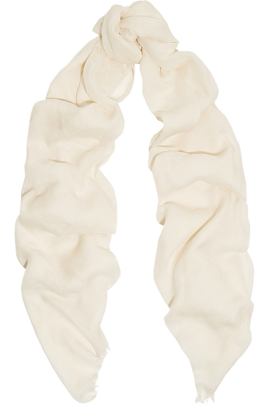 Gucci Ametista Cotton-Blend Jacquard Scarf, Ivory, Women's