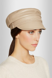 Cellarius textured-leather hat