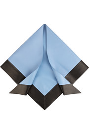 Gucci Two-tone leather triangle scarf