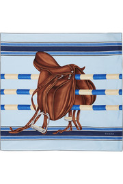Gucci Heritage printed silk scarf