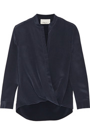 3.1 Phillip Lim Draped silk crepe de chine wrap top