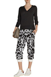 Baja East Leopard-patterned cashmere track pants