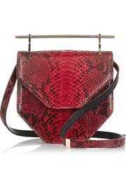 M2Malletier Amor Fati python shoulder bag