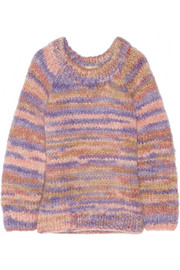 Oversized mohair and wool-blend sweater