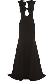 Cutout stretch-wool gown