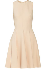 Michael Kors Fluted stretch-wool mini dress
