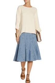Michael Kors Fluted denim skirt