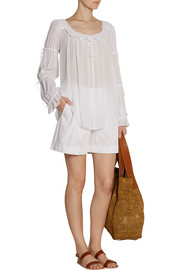 Michael Kors Ruffled gauze top