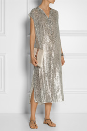 Michael Kors Metallic fil coupé dress