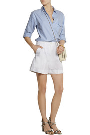 Michael Kors Pleated cotton-blend shorts