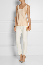Michael Kors Hammered-satin tank
