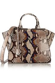 Fendi 3Jours medium python tote