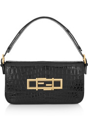 Baguette crocodile shoulder bag