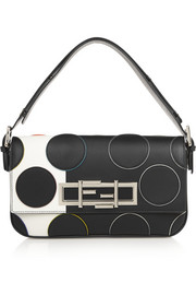 Baguette polka-dot leather shoulder bag