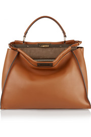 Fendi Peekaboo large leather tote