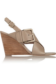 Xia leather wedge sandals