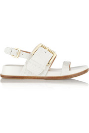 Sigerson Morrison Solar croc-effect leather sandals