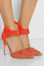 Sigerson Morrison Galicia leather and suede pumps
