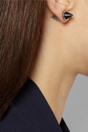 Eddie Borgo Gold-plated, sandstone and cubic zirconia earrings