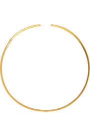 Eddie Borgo Enameled gold-plated choker