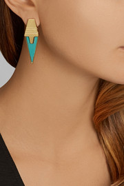Eddie Borgo Gold-plated turquoise earrings