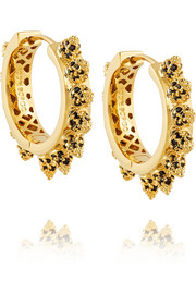 Gold-plated cubic zirconia hoop earrings