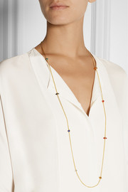 Eddie Borgo 9 station gold-plated multi-stone necklace