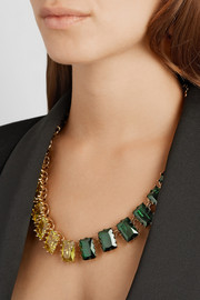 Eddie Borgo Estate gold-plated crystal necklace