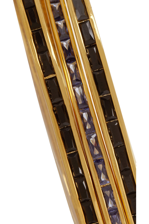 Eddie Borgo Set of three gold-plated, cubic zirconia and enamel bracelets