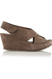 Federica suede wedge sandals
