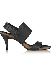 Whisper textured-leather sandals