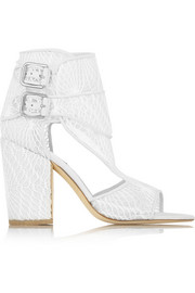 Rush macramé mesh sandals