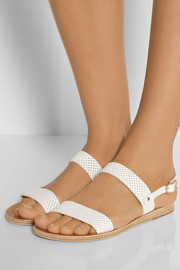 Clio perforated leather sandals