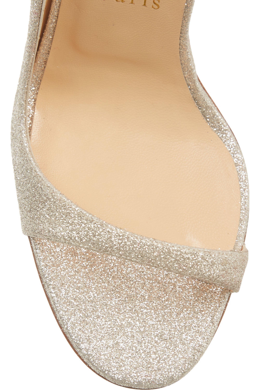 Christian Louboutin Toboggan 100 glittered leather sandals