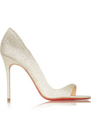 Christian Louboutin Toboggan 100 glitter-finished leather sandals