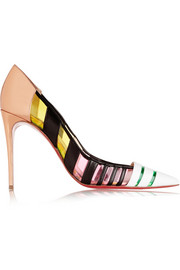 Bandy 100 striped leather and PVC pumps