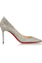 Christian Louboutin Décolleté 85 metallic jacquard pumps