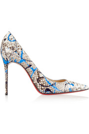 Christian Louboutin Décolleté 100 painted python pumps