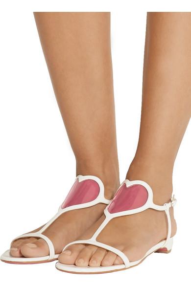 912ba081451 Cora 20 PVC-paneled patent-leather sandals