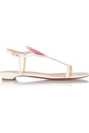 Christian Louboutin Cora PVC-paneled patent-leather sandals