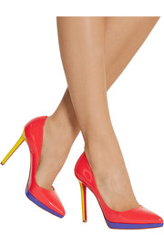 Christian Louboutin Pigalle Plato 120 patent-leather pumps