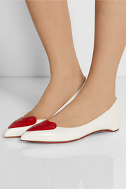 Christian Louboutin Corafront patent-leather point-toe flats
