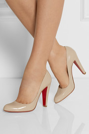 Christian Louboutin Décolleté 100 glossed-leather pumps