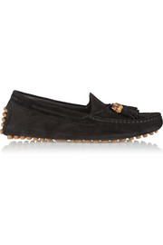 Gucci Tasseled suede loafers