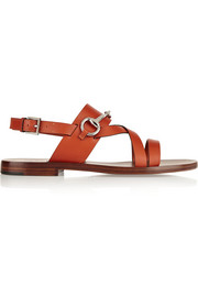 Horsebit-detailed leather sandals