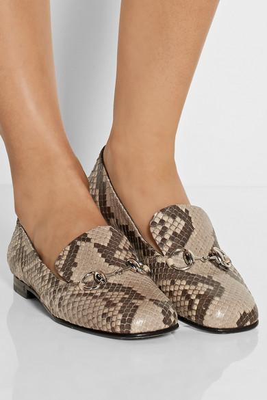 71f719af3 Gucci | Horsebit-detailed python loafers | NET-A-PORTER.COM