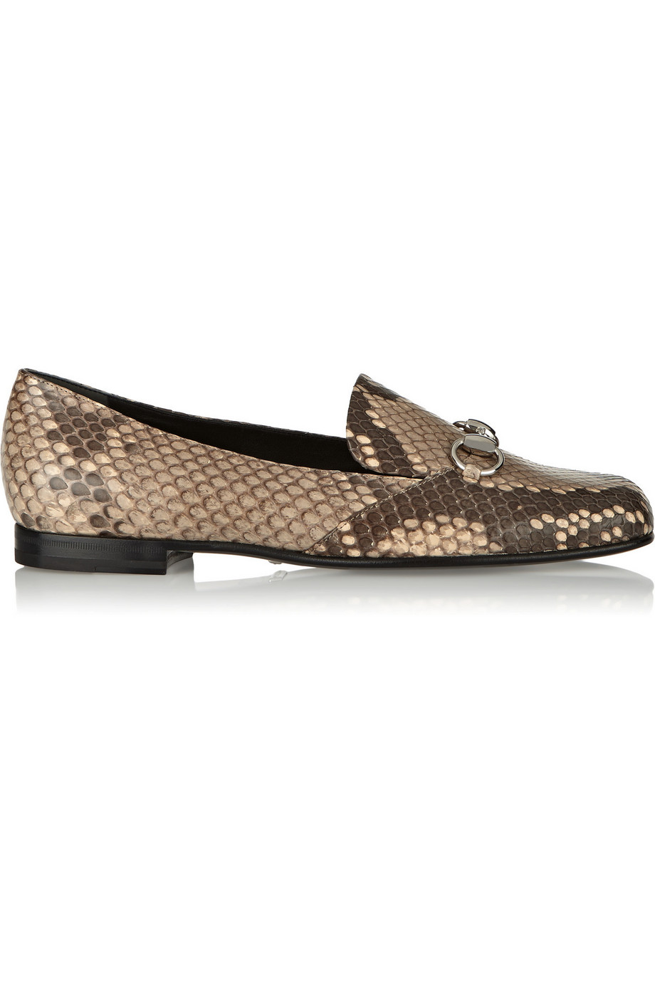 Gucci Horsebit-Detailed Python Loafers, Snake Print, Women's US Size: 6.5, Size: 37