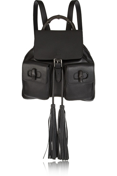 2df9c3b284e Gucci. Bamboo Sac textured-leather backpack