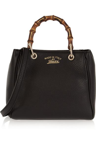 bac4f95b6309 Gucci. Bamboo Shopper mini textured-leather shoulder bag.  1