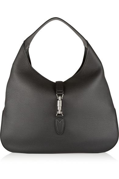 7051156f32f40b Gucci | Jackie Soft Hobo textured-leather shoulder bag | NET-A ...